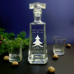 "Zestaw do whisky i nalewek ""Choinka - Merry Christmas"""